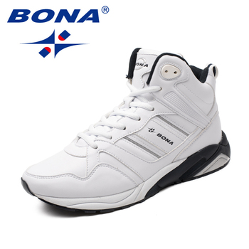 BONA New Arrival Classics Style Men Running Shoes Lace Up Athletic High Upper Jogging Sneakers Fast Free Shipping