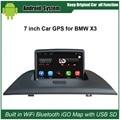 Originales actualizado Android Juego de Coches Reproductor de Radio para BMW X3 E83 2004-2009 Reproductor de Vídeo Del Coche Construido en WiFi GPS de Navegación Bluetooth