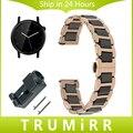 20mm Quick Release Strap Cerâmica & Stainless Steel Watch Band para moto 360 2 2nd 42mm homens butterfly fivela de cinto pulseira de pulso