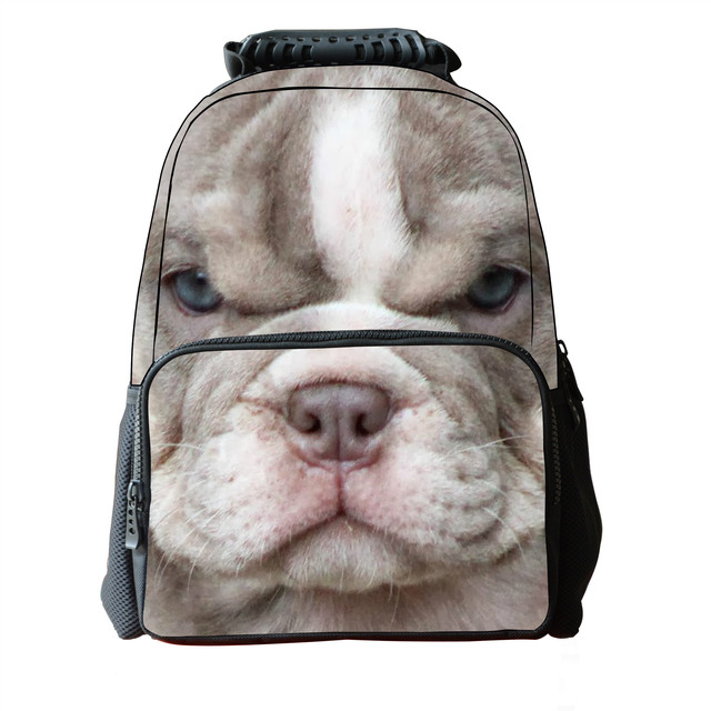 3D Children School Backpack for Teenage Boys Cool Animal Sharpei Dog  Backpack Fashion College Students Animal Backpack