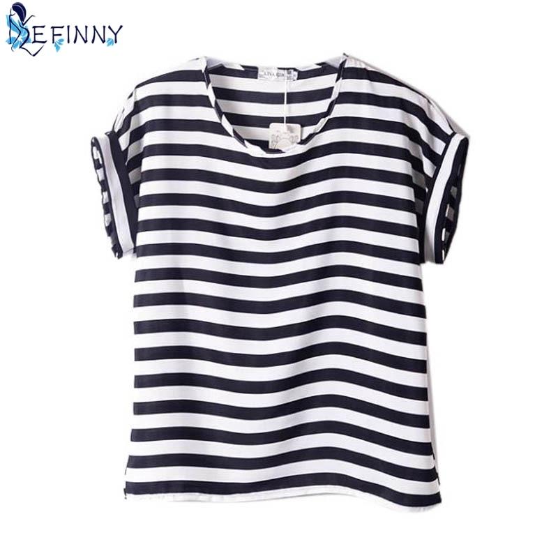 EFINNY קיץ חולצות O צוואר צייר נשים מודפסות למעלה חולצת טריקו קצר חולצת טריקו חולצת שיפון רופף Feminino harajuku