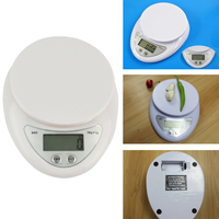 5KG Digital LCD Display Weight Scale Electronic Scale Postal Liquid Crystal Kitchen Jewelry Weight Balance Battery