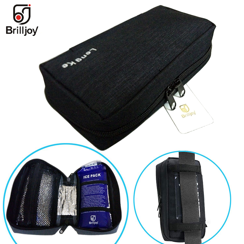 Brilljoy Portable Insulin Cooler Protector Bag Organizer Medical Insulation Cooling Pouch Case Holder