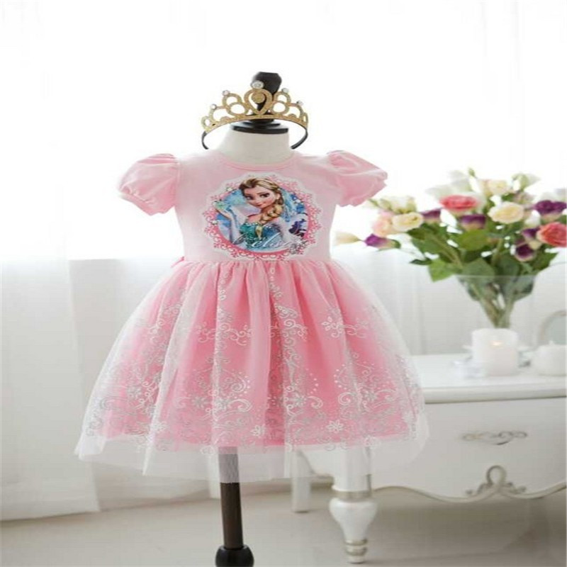 Blue dress toddler ice