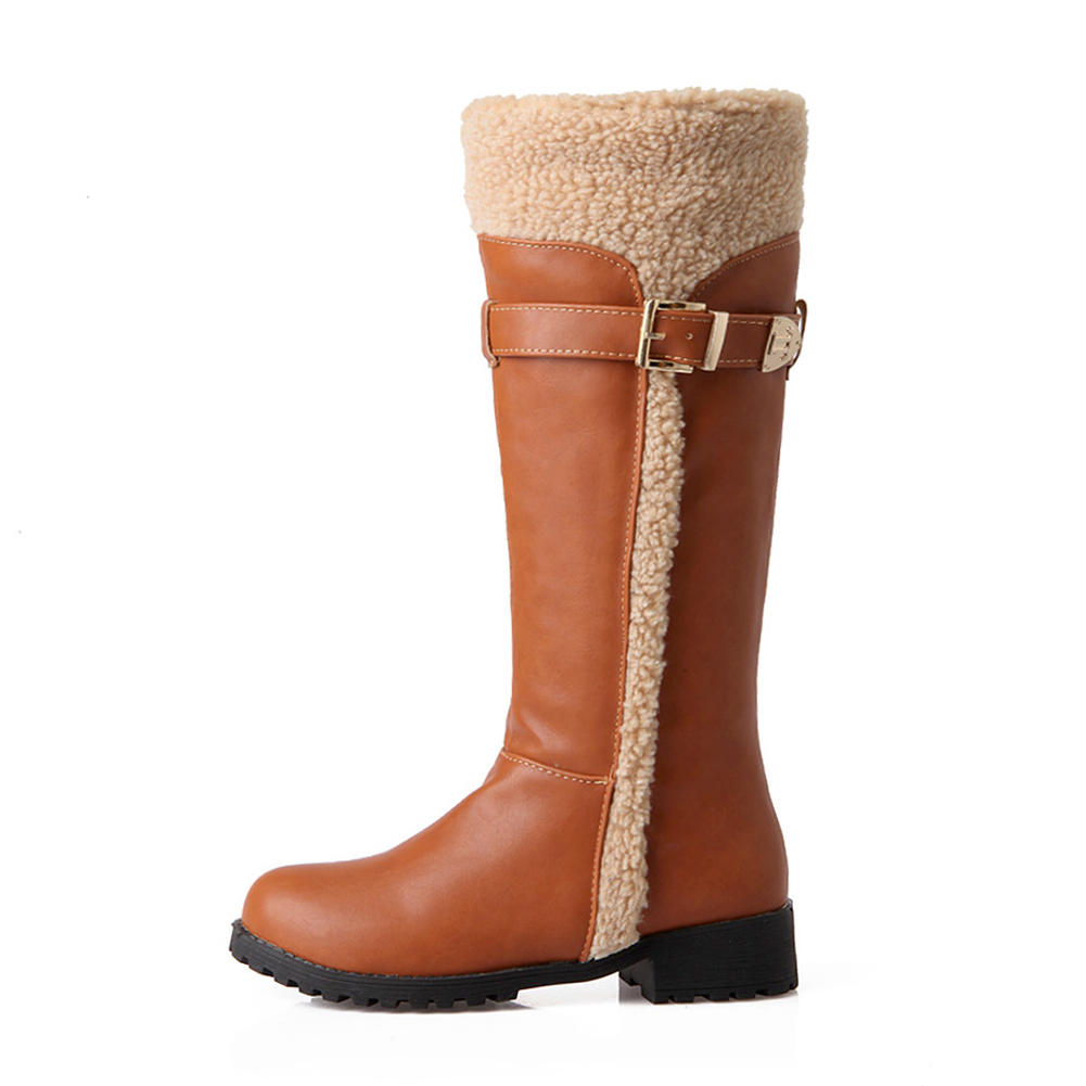 Chaussures 34 Noir Gros Tailles Bottes Yfq8o7wx D'hiver Fourrure Grandes 354qScRjLA