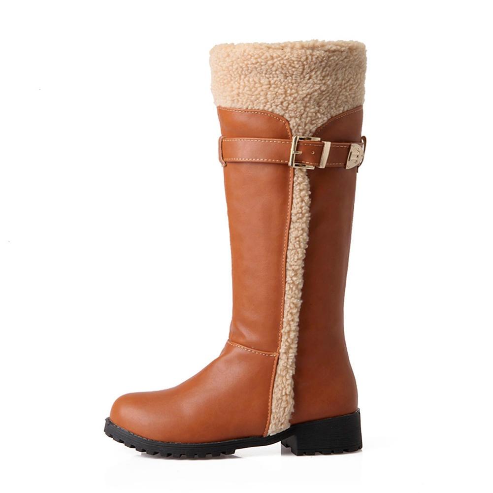 D'hiver Noir Yfq8o7wx Tailles Chaussures Fourrure Grandes Gros 34 Bottes orBWdxeC