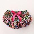 2015 Nuevos diseños de boutique de ropa de verano de la colmena floral pompón pompón corto boutique de ropa de bebé de la muchacha de la vendimia mono