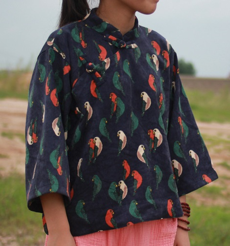 2016 autumn product launches, original design corduroy loose big yards recreational shirt