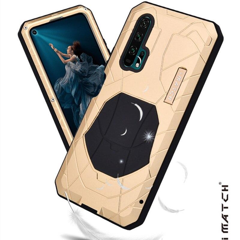 IMATCH оригинал для huawei Honor 20 Pro Чехол для Телефона Жесткий Алюминиевый металлический силиконовый Полный Чехол Броня сверхмощный протектор про