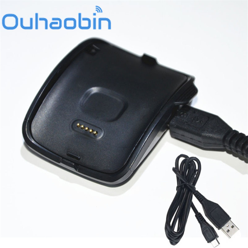 Ouhaobin Charging Cradle Dock + Replace wristbands for Samsung Gear S Smart Watch SM-R750 Oct 4 Dropship Wholesale