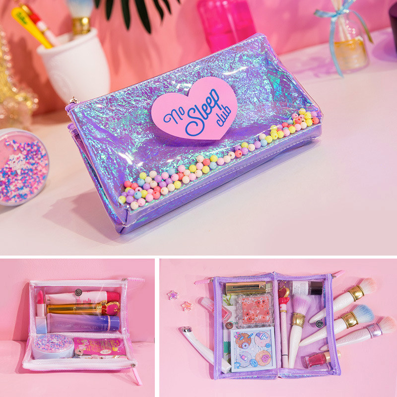 Women Cute Travel Cosmetic Bags Waterproof Girls PVC Makeup Brushes Toiletry Organizer Pouch Causal Make Up Beauty Case Box new arrive hot 2pc set portable jewelry box make up organizer travel makeup cosmetic organizer container suitcase cosmetic case
