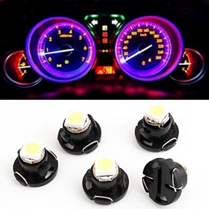 US $8 92 |T4 2 Led Neo Wedge SMD Dashboard Instrument Cluster Light Car  Panel Gauge Speedo Dash Bulbs blue red green white yellow 12v-in Signal  Lamp