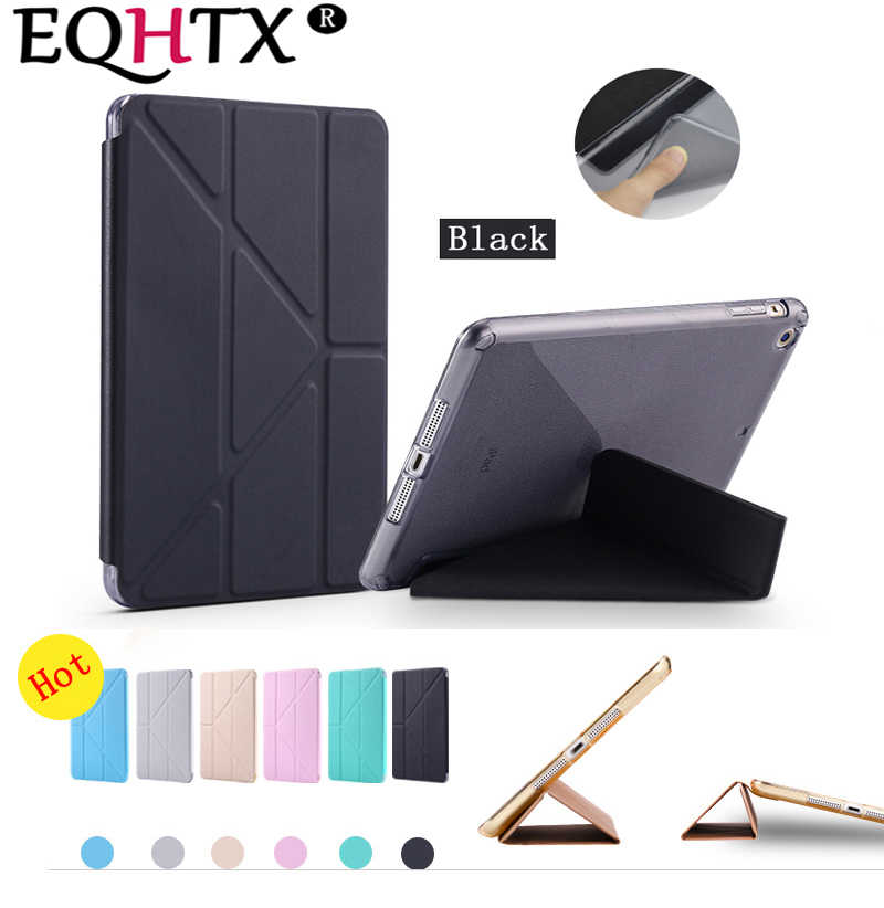 Funda de TPU para iPad Mini 3 2 1-2012 ~ 2014, funda de despertador Smart Sleep Ultra delgada de cuero para tableta-para IPAD mini 123 CASE-EQHTX