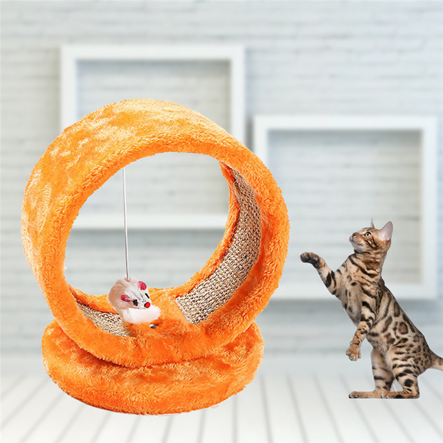 Orange Color Small Cats Toy Net Cat Climbing Frame Jumping Platform ...