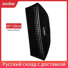 """Godox 50x130 cm/20 """"* 51"""" Arı Kovanı Petek Izgara Şerit Softbox Bowens Dağı Stüdyo flaş DE300 DE400 SK300 SK400 DP600 QT600"""