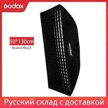 """Godox 50x130 cm/20 """"* 51"""" ula o strukturze plastra miodu siatki taśmy Softbox Bowens Mount dla Studio flash DE300 DE400 SK300 SK400 DP600 QT600"""