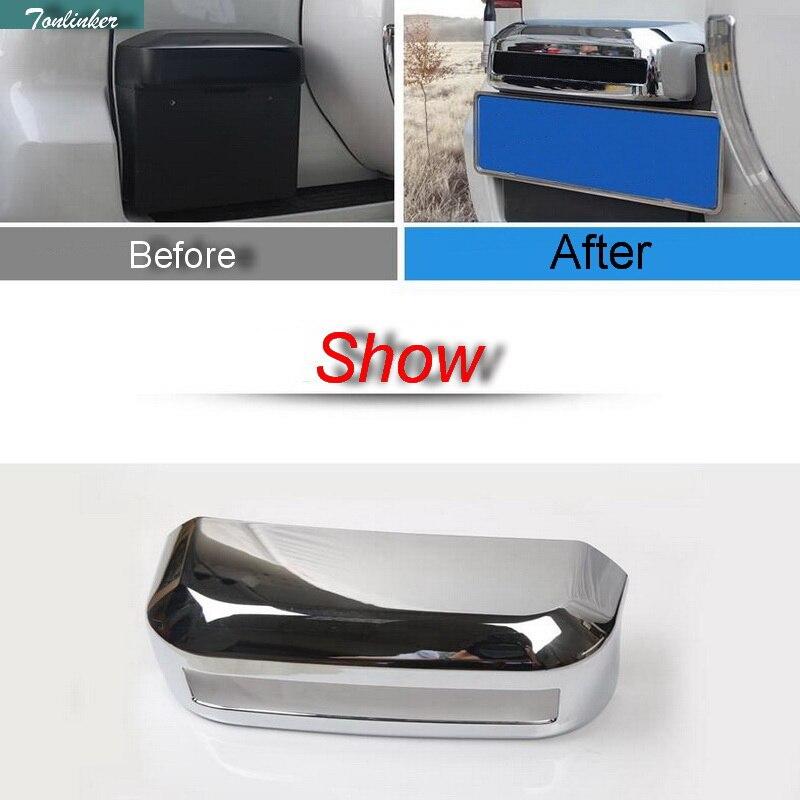 Tonlinker 1 pièces bricolage voiture style nouveau ABS miroir porte arrière poignée boîte à lumière housse autocollants pour Toyota Prado 2010-15