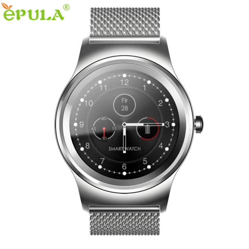 ФОТО 2017 New Arrival Hot  Heart Rate Monitor Bluetooth Call Anti-Lost Smart Watch Wristwatch Stainless Steel  Montres intelligents