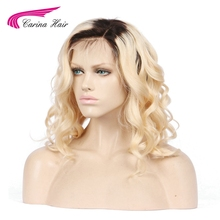 Carina Ombre Blond Color Lace Front Human Hair Wigs With Baby Hair Peruvian Remy Hair Loose Deep Pre Plucked Natural Hairline