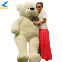 Fancytrader Hot Sales JUMBO 78'' White Giant Plush Stuffed Teddy Bear Best Gift 4 Colors 200cm FT90056