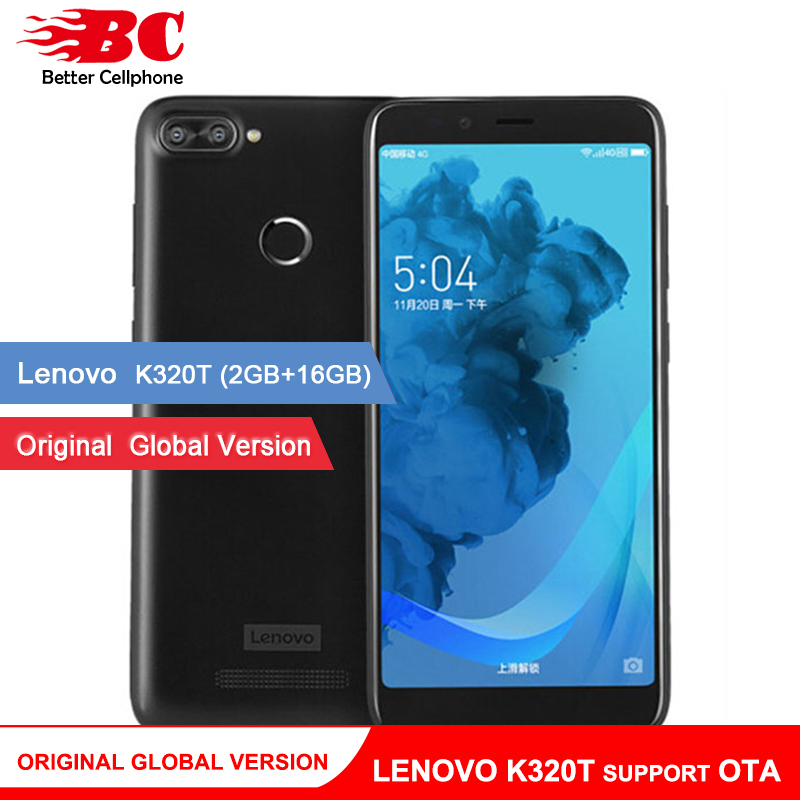 D'origine Mondial version Lenovo k320t 18:9 5.7 pouce Plein Écran Quad core Android 7.0 Double Caméra Arrière D'empreintes Digitales Soutien OTA