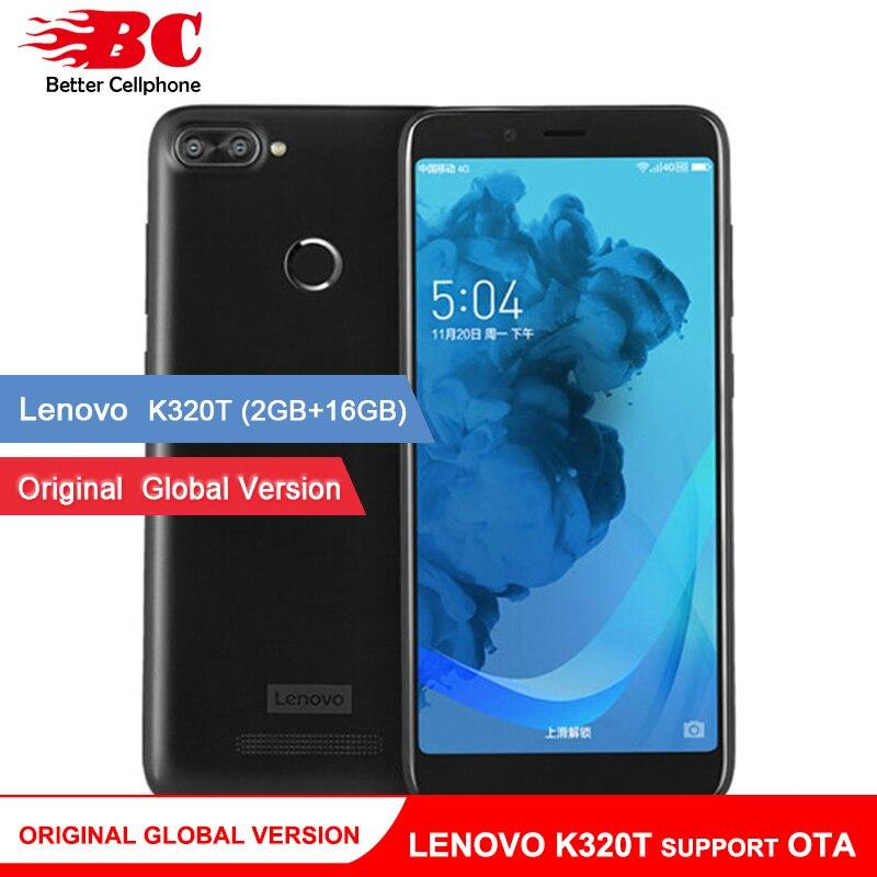 Originele Global versie Lenovo k320t 18:9 5.7 inch Full Screen Quad core Android 7.0 Dual Camera Terug Vingerafdruk Ondersteuning OTA