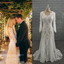 NOBLE BRIDE Wedding Dress 2019 Long Sleeve Backless