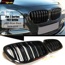 цена на F02 Front Grille ABS Gloss Black For F02 2-Slats Grills M-Style 740i 740Li 745i 750i 760Li Front Bumper Kidney Grille 2008-2014