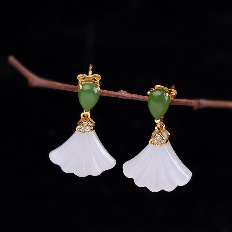 925 silver jewelry wholesale retro palace wind hollow stone classical palace tassel earrings female long section ancient style s925 silver jewelry wholesale retro palace wind hollow stone classical palace tassel earrings female long section ancient style s