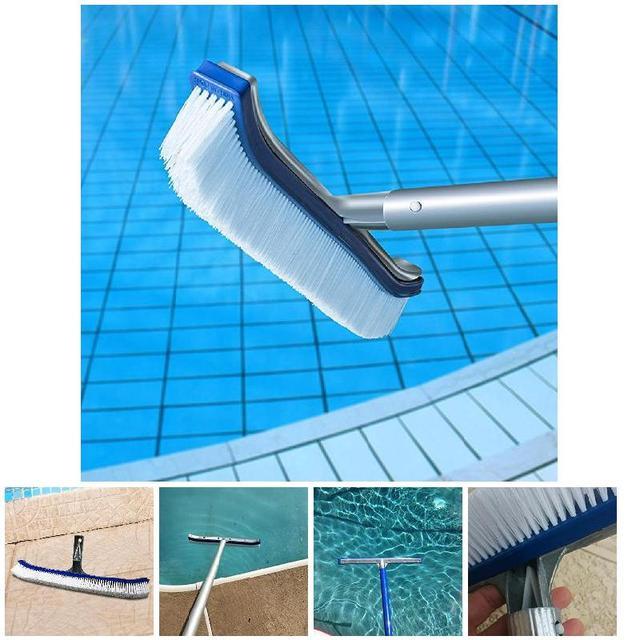Swimming Pool Spa Algae Cleaning Brush Head Heavy Duty Cleaner Broom ...