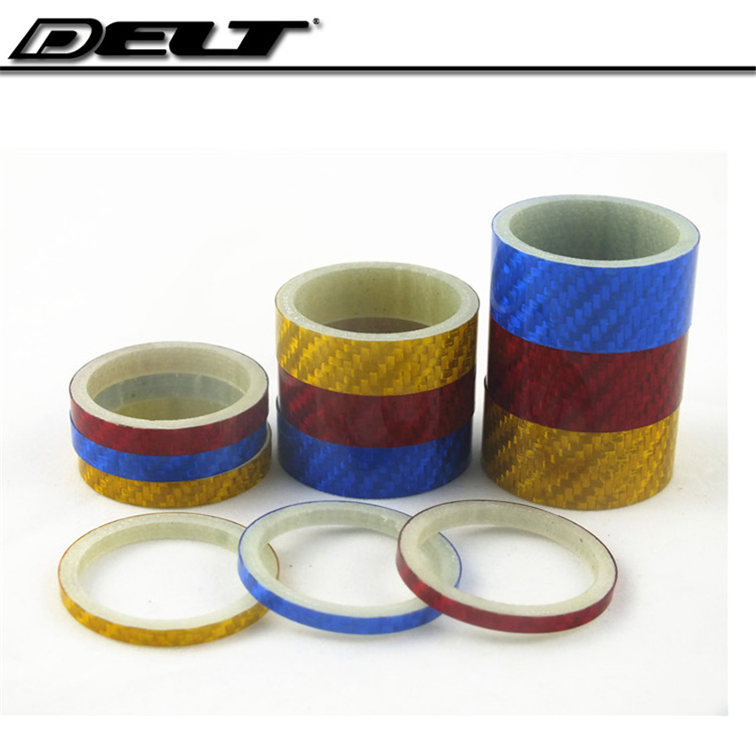 1 Set 1-1/<font><b>8</b></font> Full carbon multicolor Road bicycle bike headset Gasket spacer mountain 3/<font><b>5</b></font> /10 /<font><b>15</b></font> mm <font><b>X</b></font> 28.6mm
