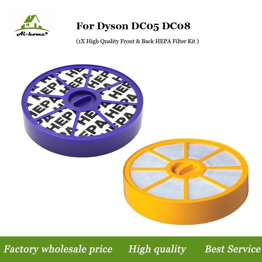 Front & Back HEPA Filter Kit For Dyson DC05 DC08 DC15 Pre & Post ,upper & Lower Motor Allergy Vacuum Replacement