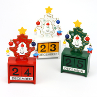 Christmas Trees Wooden calendar Creative Calendar Manually Small Desk Crafts Home Furnishing ornaments