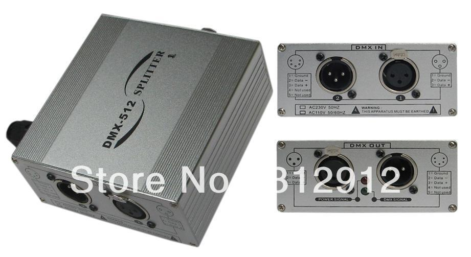 Séparateur DMX 1 voie; 1 entrée, 1 sortie, sortie de signal DMX512 standard
