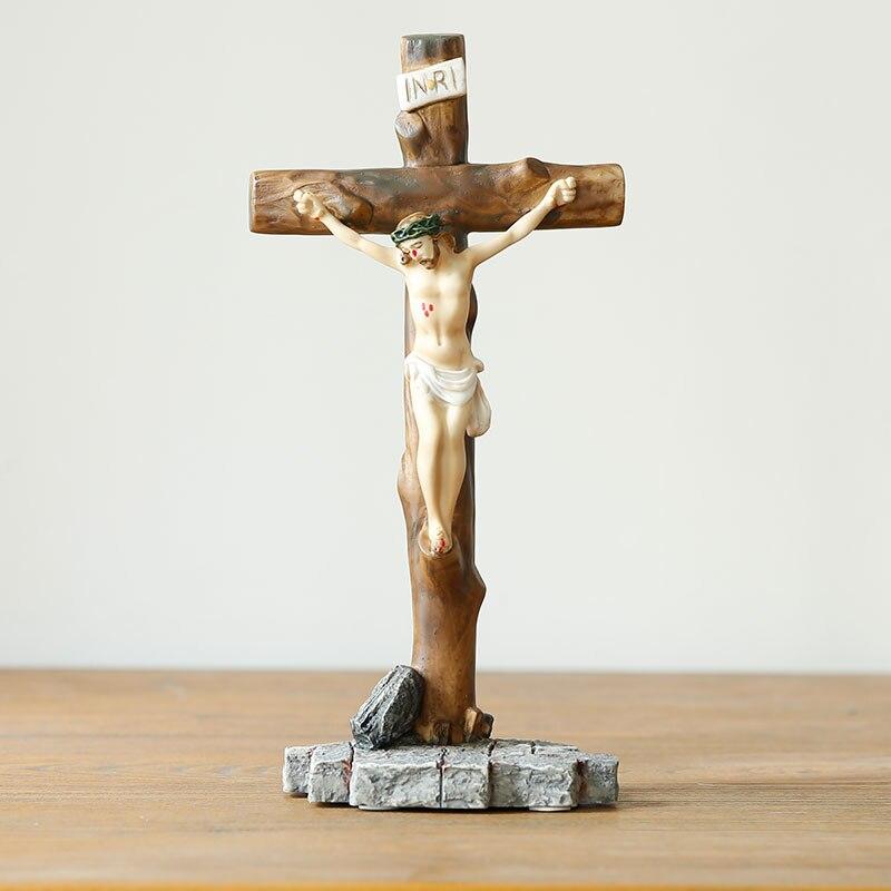 Icônes religieuses catholiques chrétiennes idole cadeaux de mariage cadeaux Christ jésus bibelot ornements croix ameublement - 2