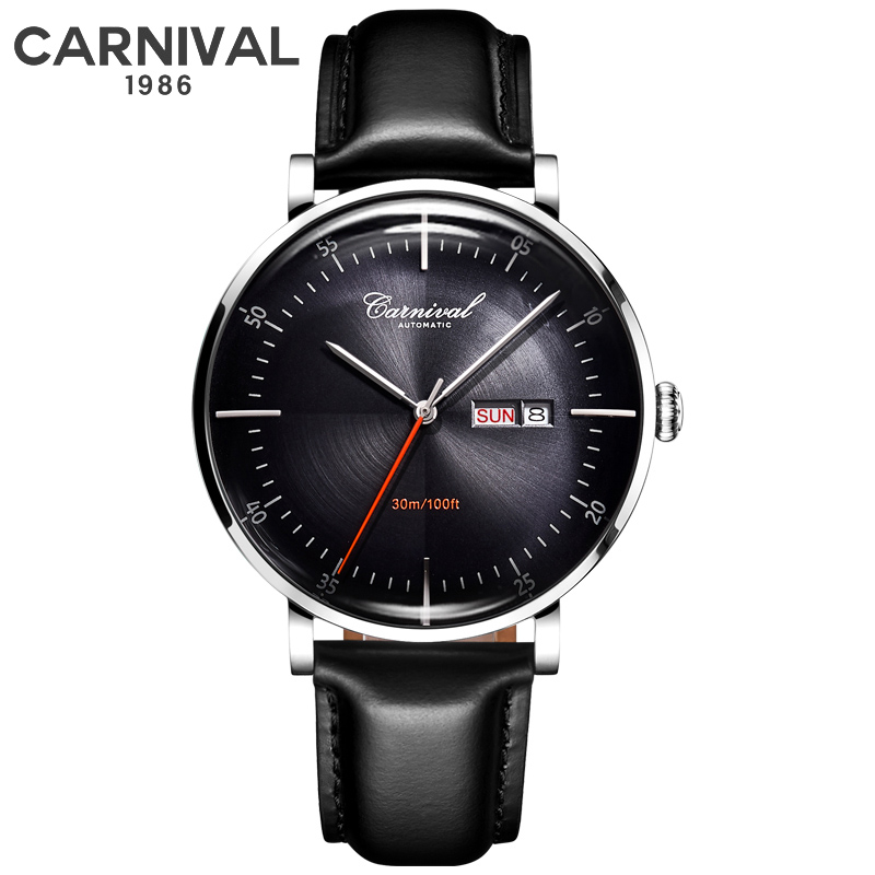 Man Watch 2019 Luxury Brand CARNIVAL Men Watches Male Clock Business Classic Automatic Mechanical Sport Watch For Men Relogio
