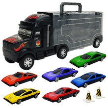Children's Car Alloy Car Simulation Container Truck Puzzle Children's Toy Car Model(China)