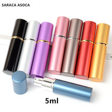 Wholesale And Retail 5ml (30 Pieces/Lot) High Quality  Metal Shell Glass Tank Empty Spary Perfume Bottles Refillable Atomizer