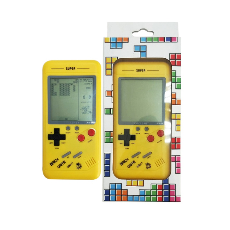 Classic Tetris Console Handheld Game Players Play Tetris GameBuilt-in variety of games Gift For Child Kid