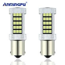 Anmingpu 2×1156 BA15S 63SMD P21W светодио дный R5W лампы вождение автомобиля указатели поворота Резервное копирование лампы Обратный Парковка 6000 К белый/желтый/красный