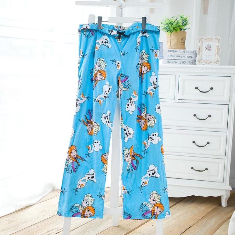 Autumn Women Legging Trousers Cotton Pajama Pants Plus Size Cartoon Sleep Bottoms