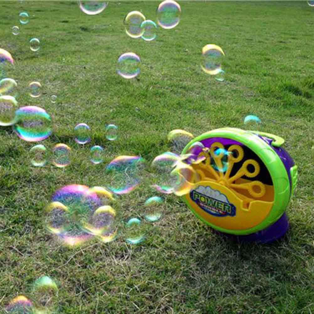 Electronic-Automatic-Bubble-Machine-Green-Plastic-Bubble-Blowing-Soap-Bubbles-Baby-Toys-3