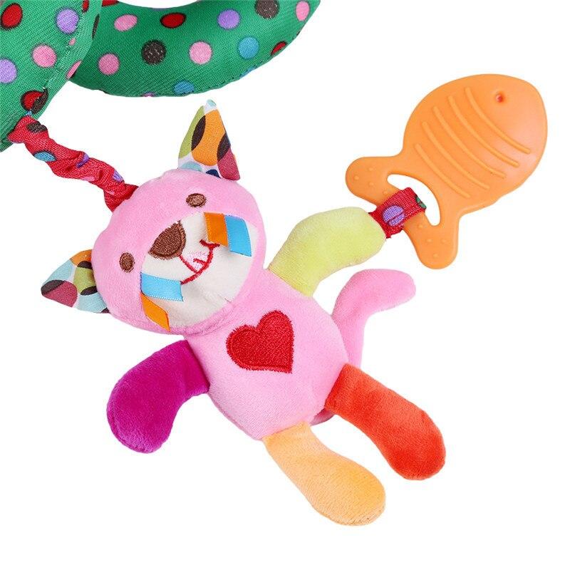 Baby Bed Rammelaar Baby Speelgoed Ring Geluid Activiteit Spiraal Bed Kinderwagen Speelgoed Dubbele Hoofd Leeuw Olifant Opknoping Bel Wieg Rammelaar speelgoed 5