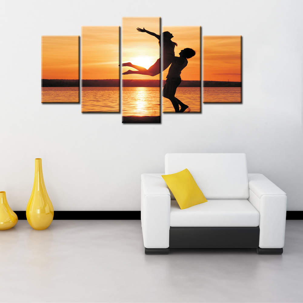 Artryst 5 pieces modern wall art canvas printed painting for Modern home decor pieces