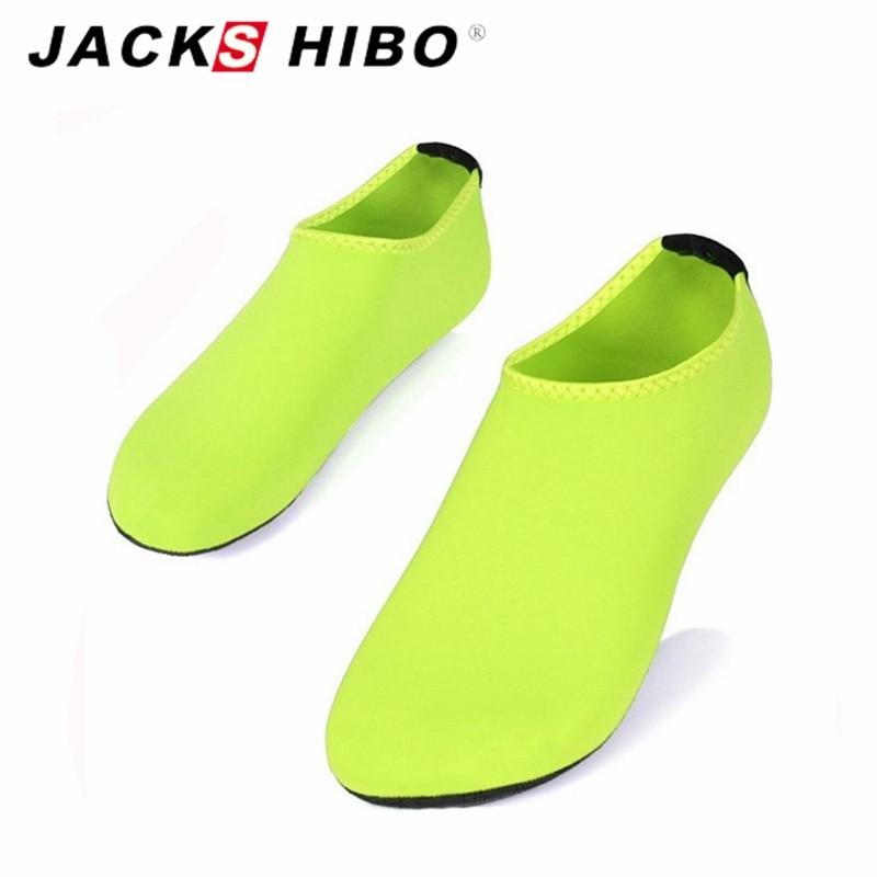 JACKSHIBO  Summer New Design Men Women slipony Water Shoes sandalias Aqua Socks Slippers for Beach Slip On Waterpark Sandals