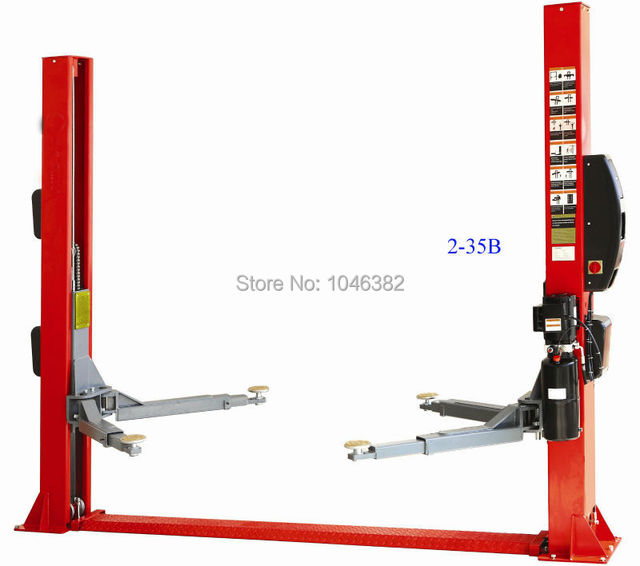 3500kg Electric Release Two Post Auto Car Lift Car Hoist-in Pallet ...