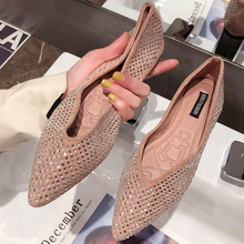 EOEODOIT Spring Flats Fashion Pointy Toe V Mouth Female Weekends Shoes Slip On L