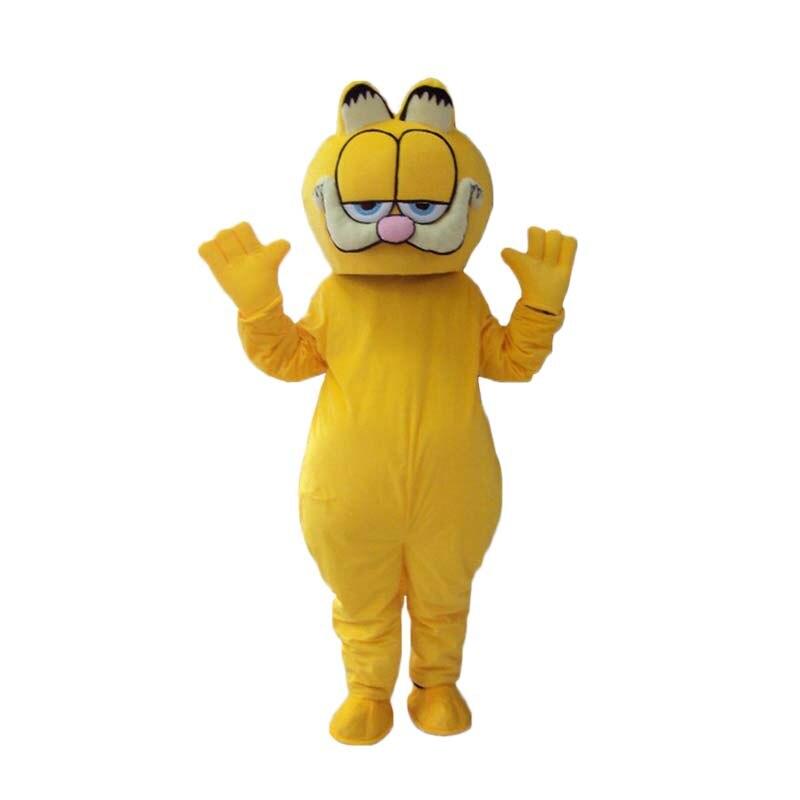 Haute qualité Garfield mascotte fursuit chat mascotte Costume carnaval fantaisie robe taille adulte livraison gratuite