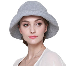 2017 Summer Women's Beach Sun Hats Anti-UV Elegant Ladies Fashion Sunhats Female Cotton Caps with Wide Birm Vacation Panama Caps