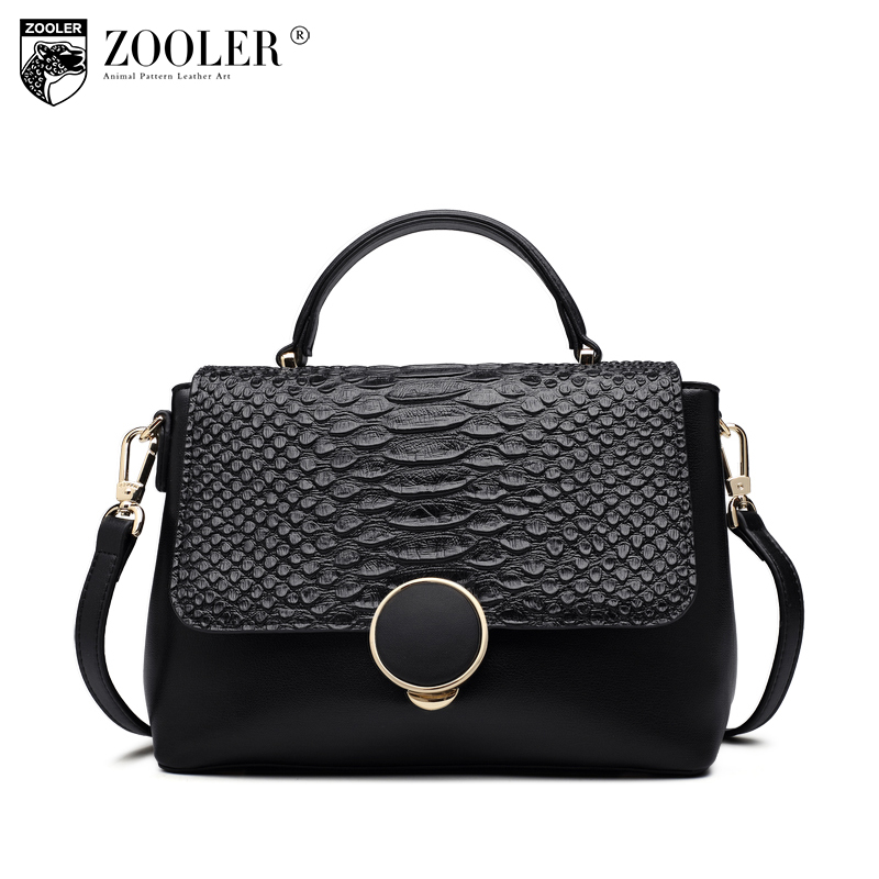 ZOOLER 2018 new woman messenger bags hot genuine leather shoulder bag setrpentine pattern limited in stock bolsa feminina H130